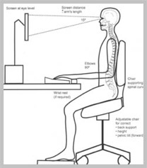 ideal sitting posture